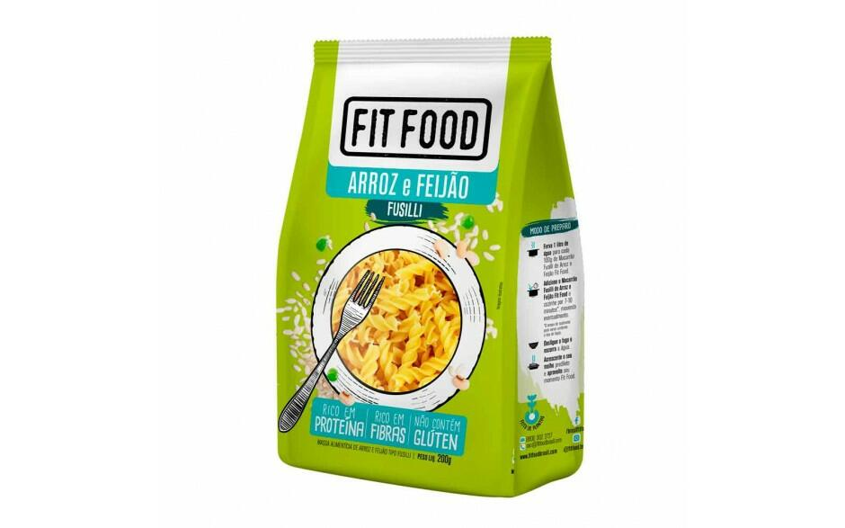 Fusilli de Arroz com Feijao Fit Food 200g